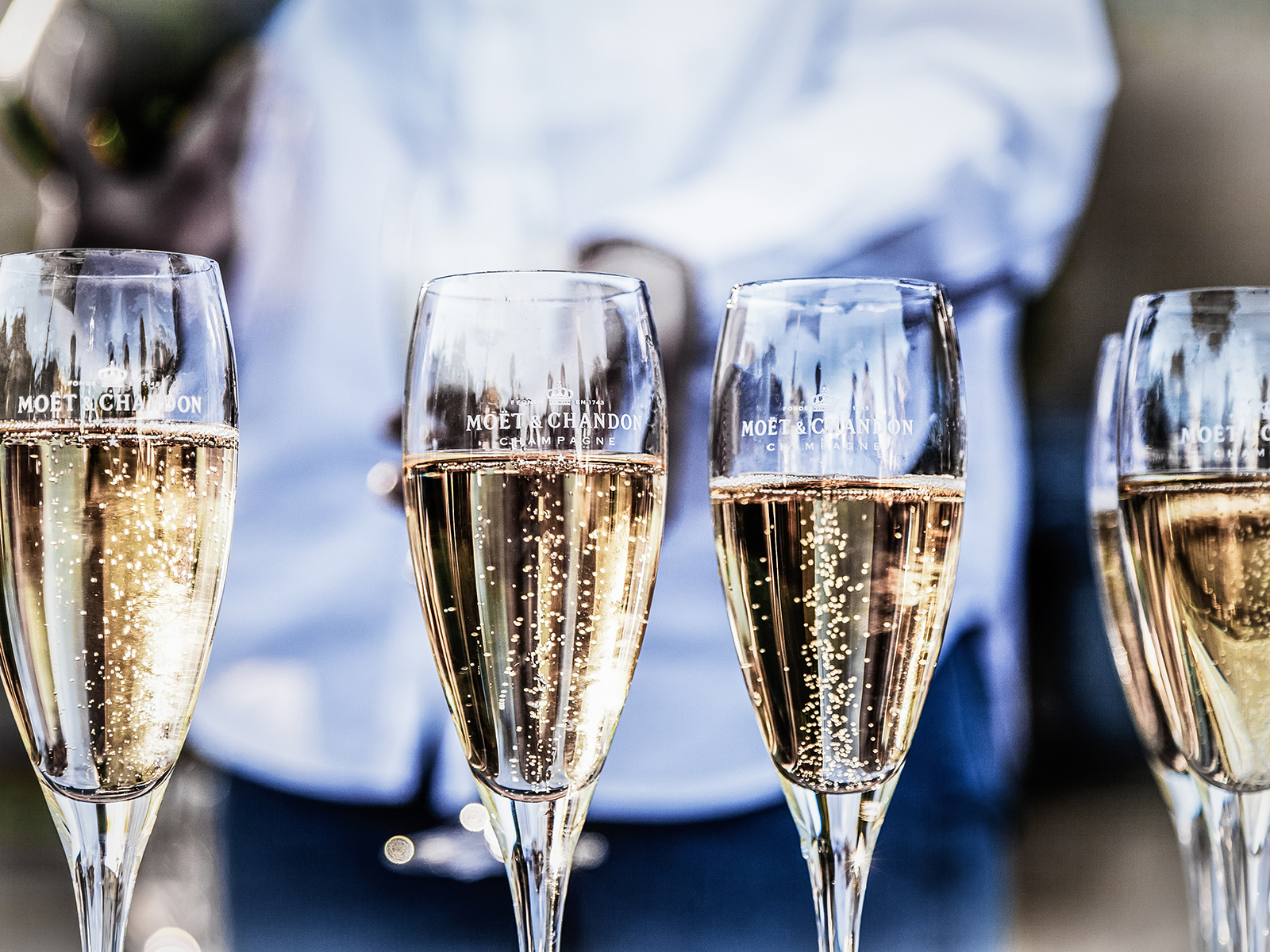 Tulip shaped champagne glasses