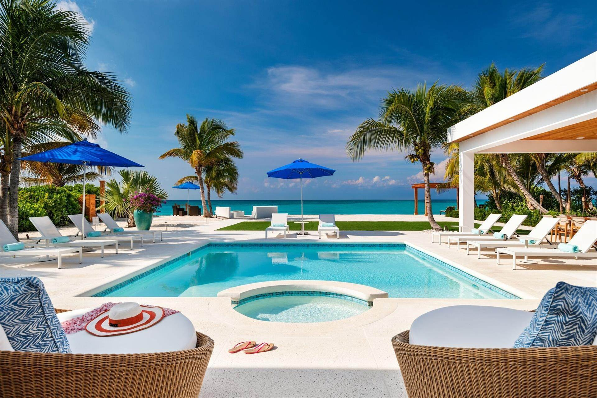Estate for Sale at Beachfront, Leeward Footprints Villa Leeward, Providenciales,BWI Turks And Caicos Islands