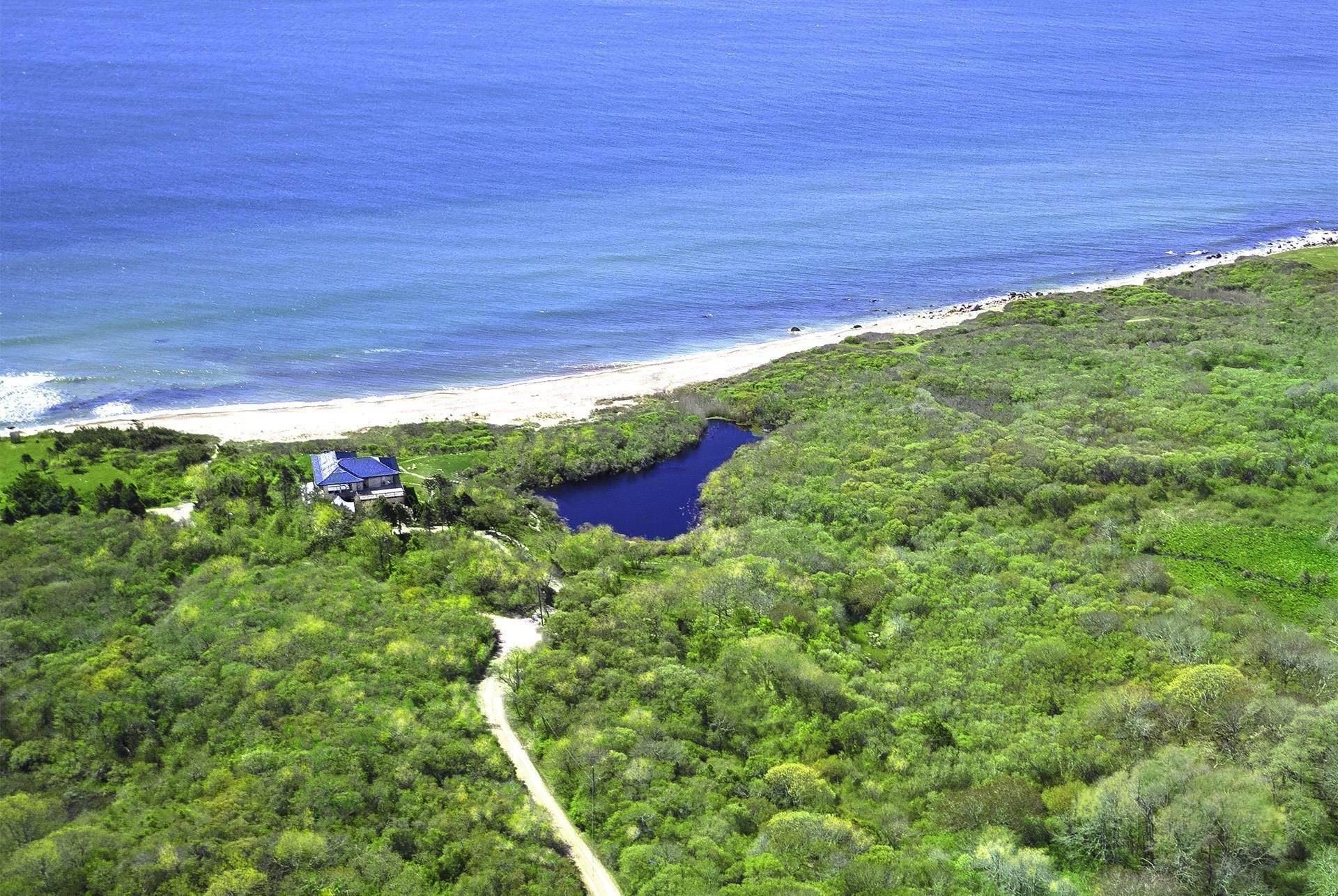 3. Single Family Home 용 매매 에 Montauk Oceanfront Paradise, 36 acres of Private Land Montauk, 뉴욕,11954 미국