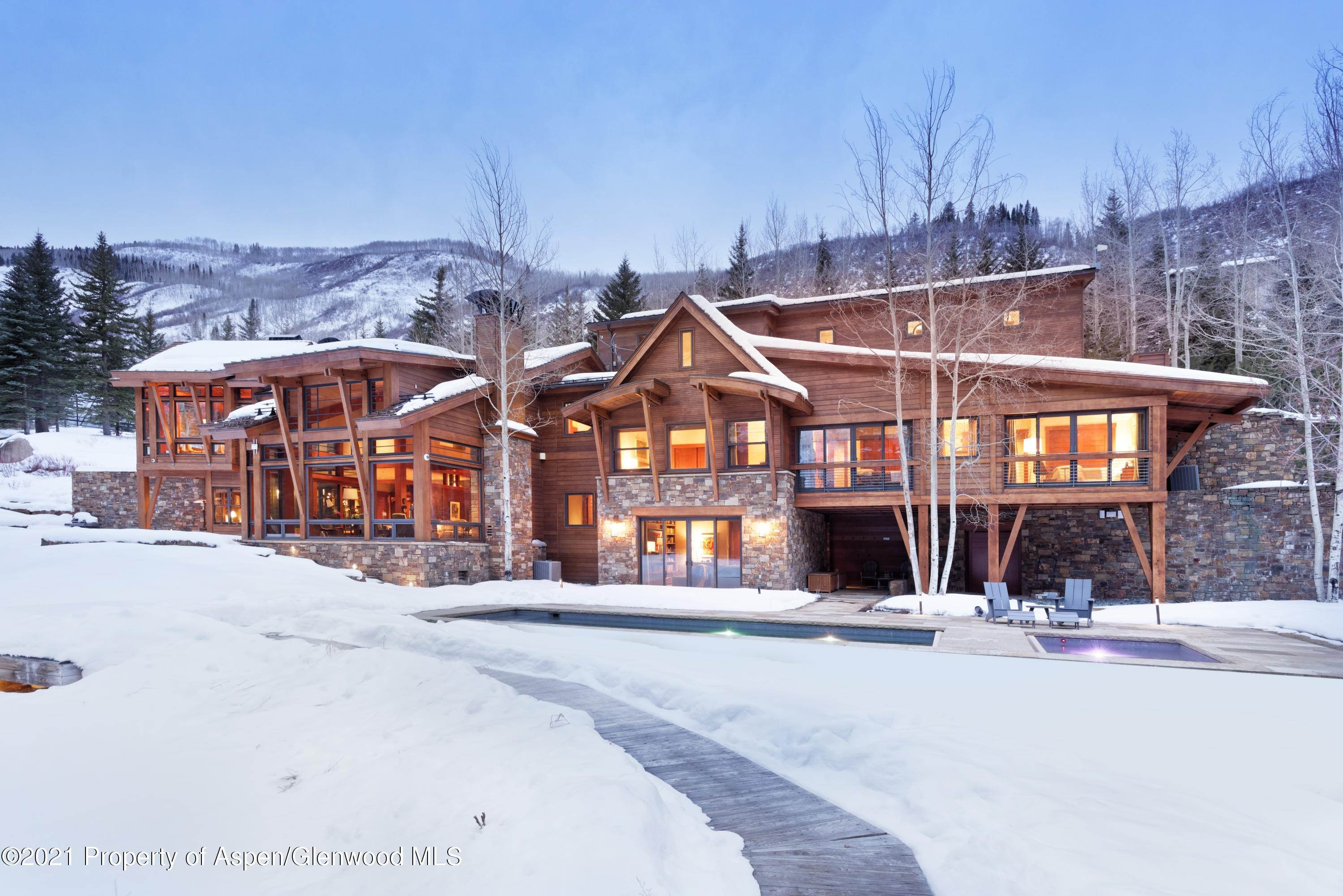 53. Single Family Home pour l à vendre à 55 Hall Drive Aspen, Colorado,81611 États-Unis