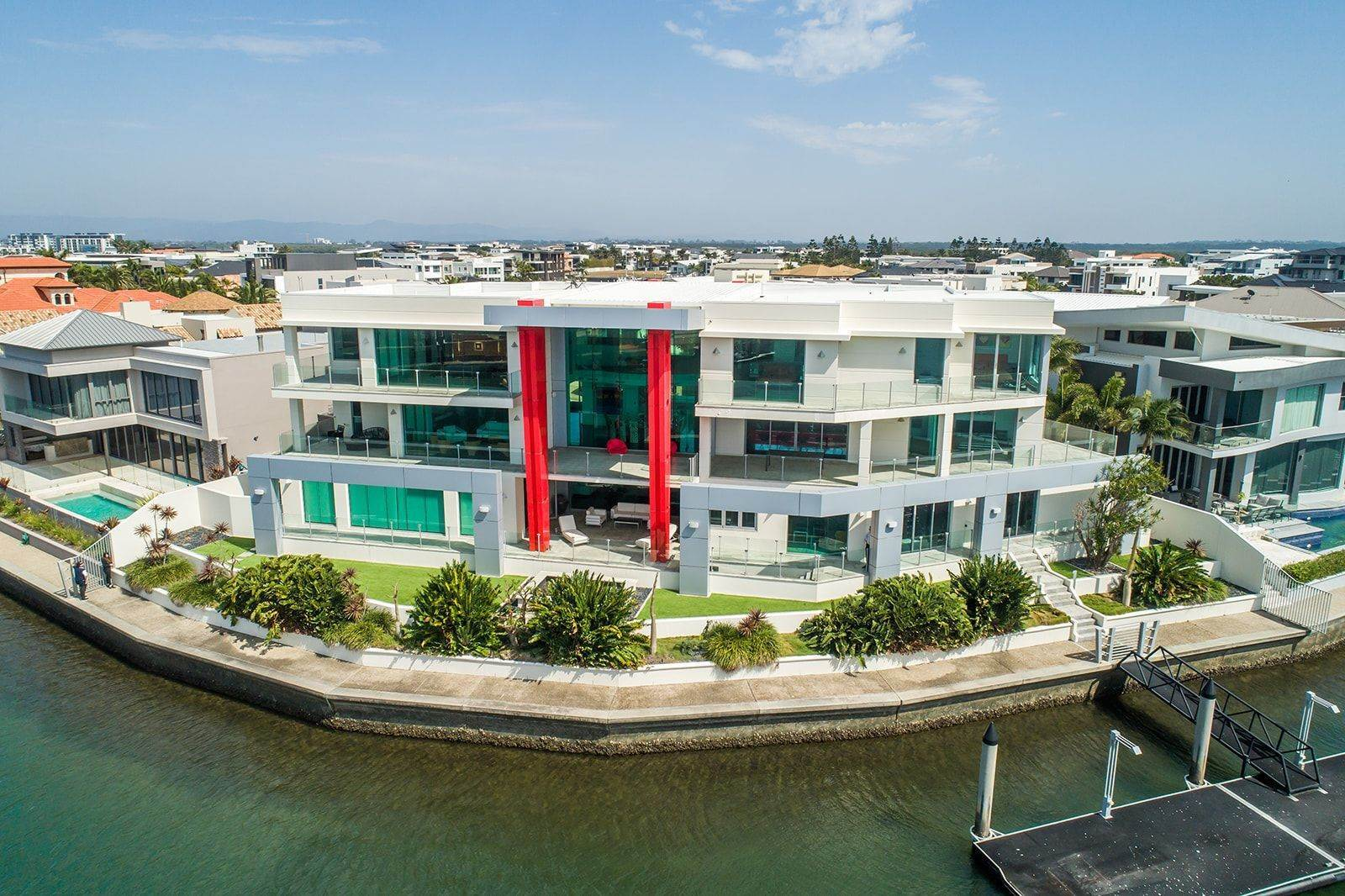Single Family Home for Sale at 'Baltimore' extravagant ode to waterfront living Waterfront opulence, Gold Coast masterpiece 46 - 48 Royal Albert Crescent Sovereign Islands, Queensland,4216 Australia