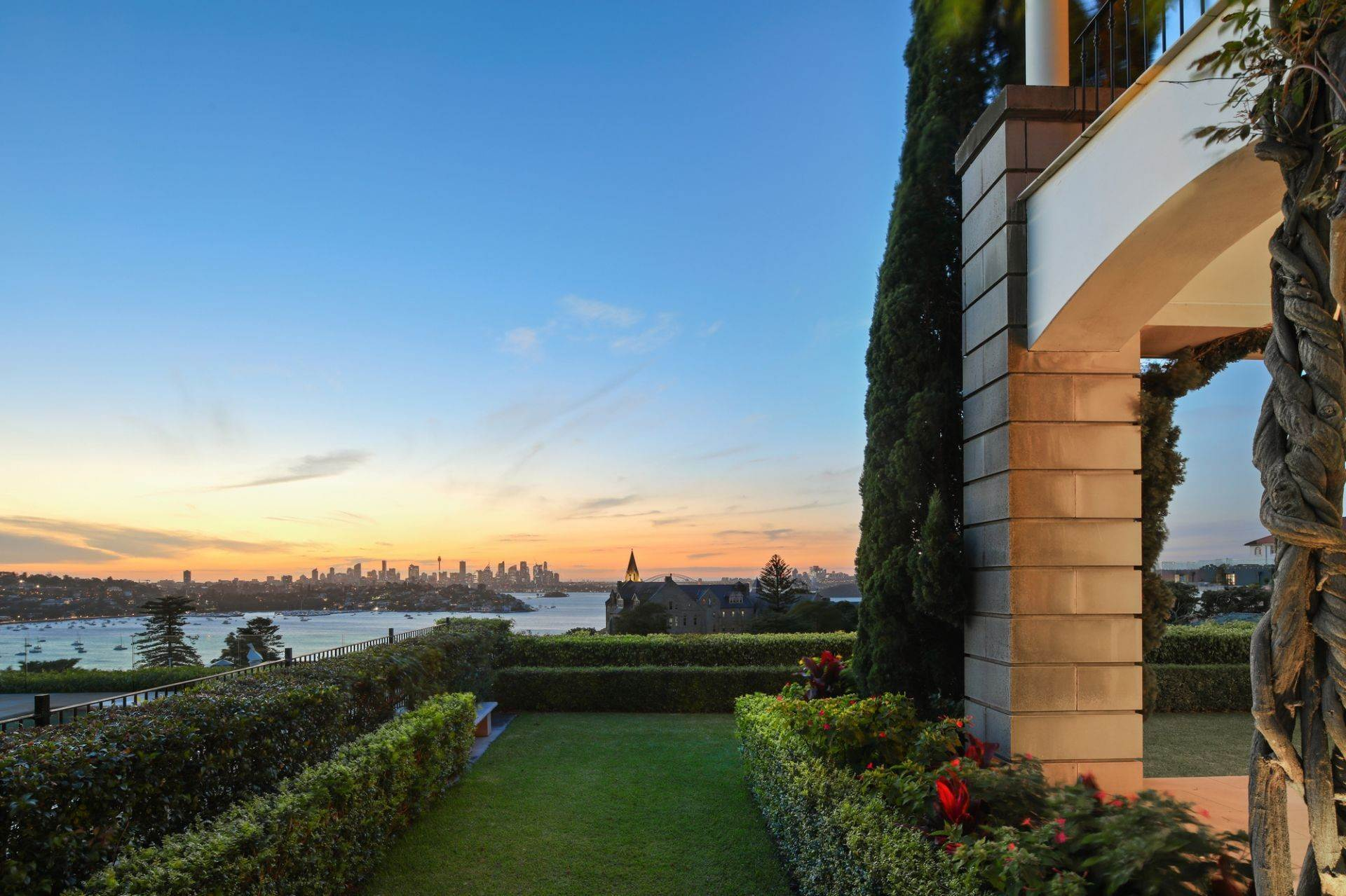 Single Family Home for Sale at Magnificent hillside estate, some of Australia's finest views Pure luxury, world class Sydney panoramas 7 Hillside Avenue Vaucluse, New South Wales,2030 Australia