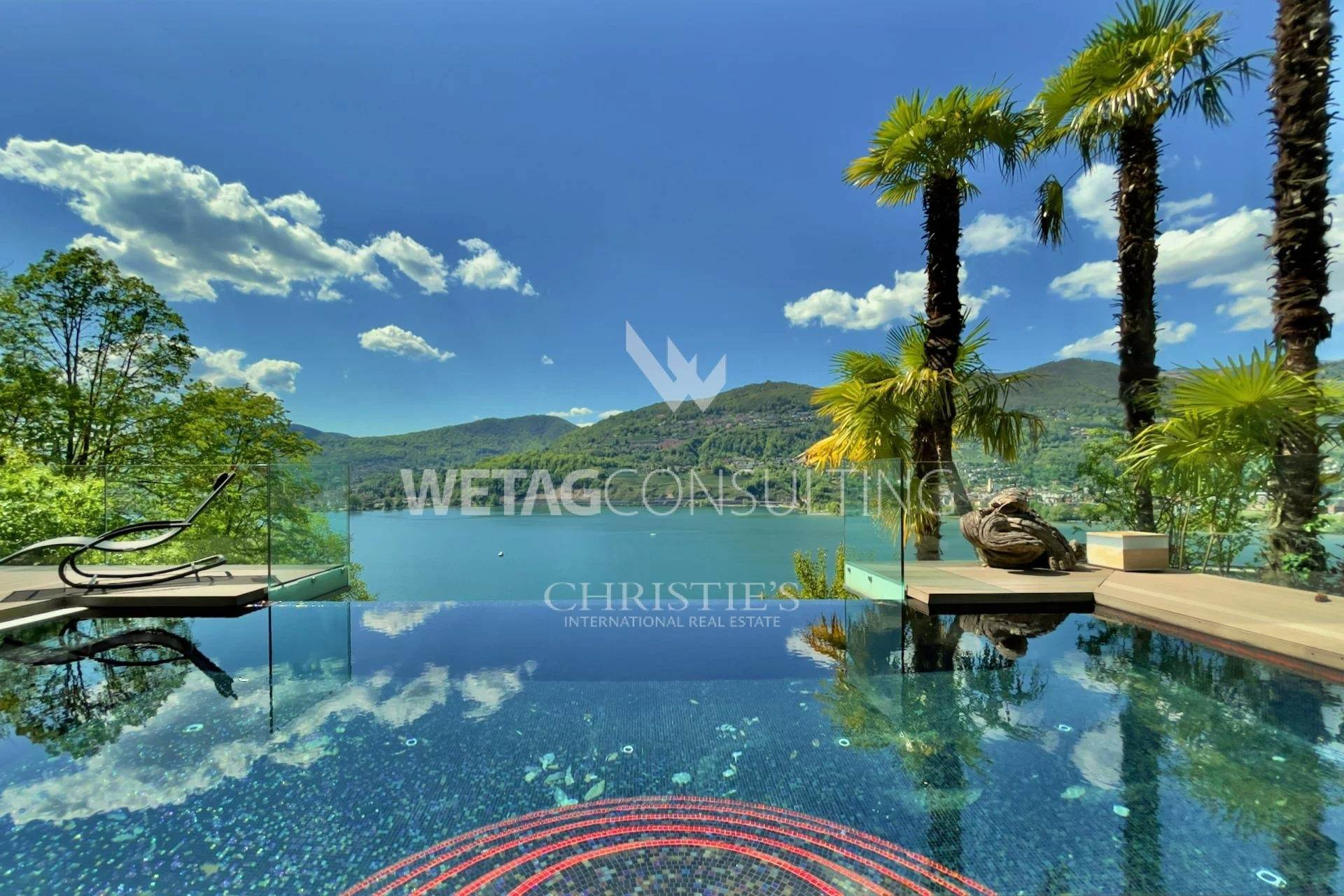 別墅 / 联排别墅 為 出售 在 Modern luxury villa overlooking Lake Lugano for sale in Montagnola Montagnola, 提契诺,6926 瑞士