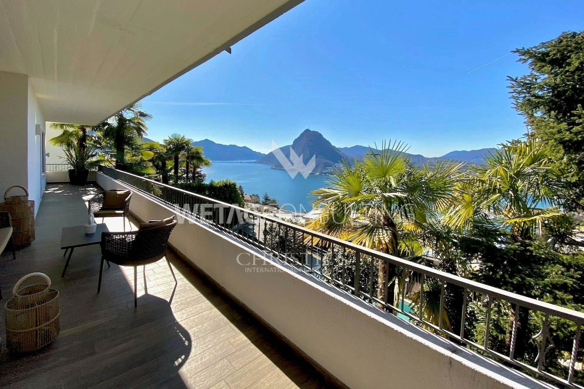 Apartamentos para Venda às Ruvigliana: modern apartment with beautiful Lake Lugano view for sale Ruvigliana, Ticino,6977 Suíça