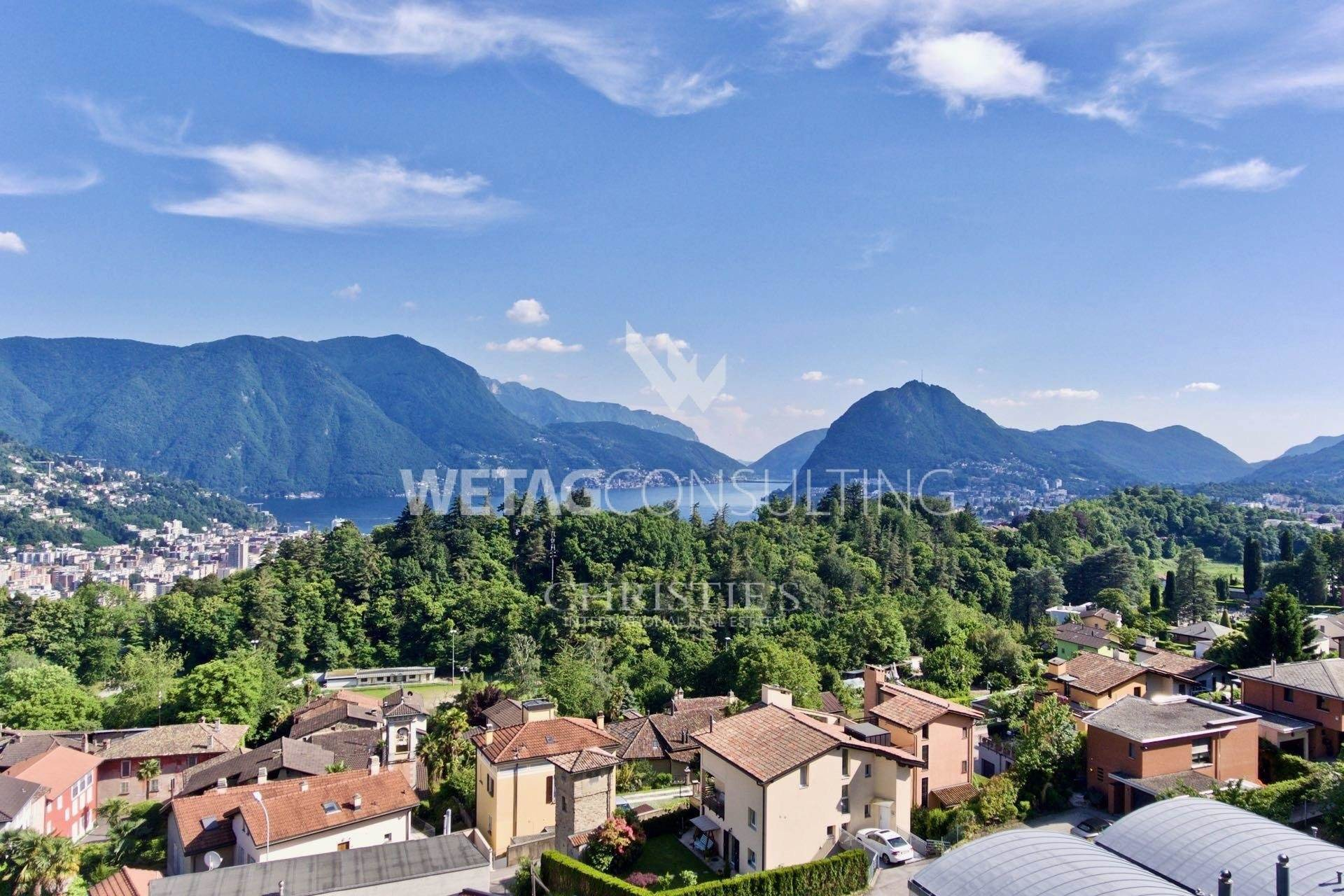 Terra / Lote para Venda às Building plot with Lake Lugano view in prestigious residential area for sale Porza, Ticino,6948 Suíça