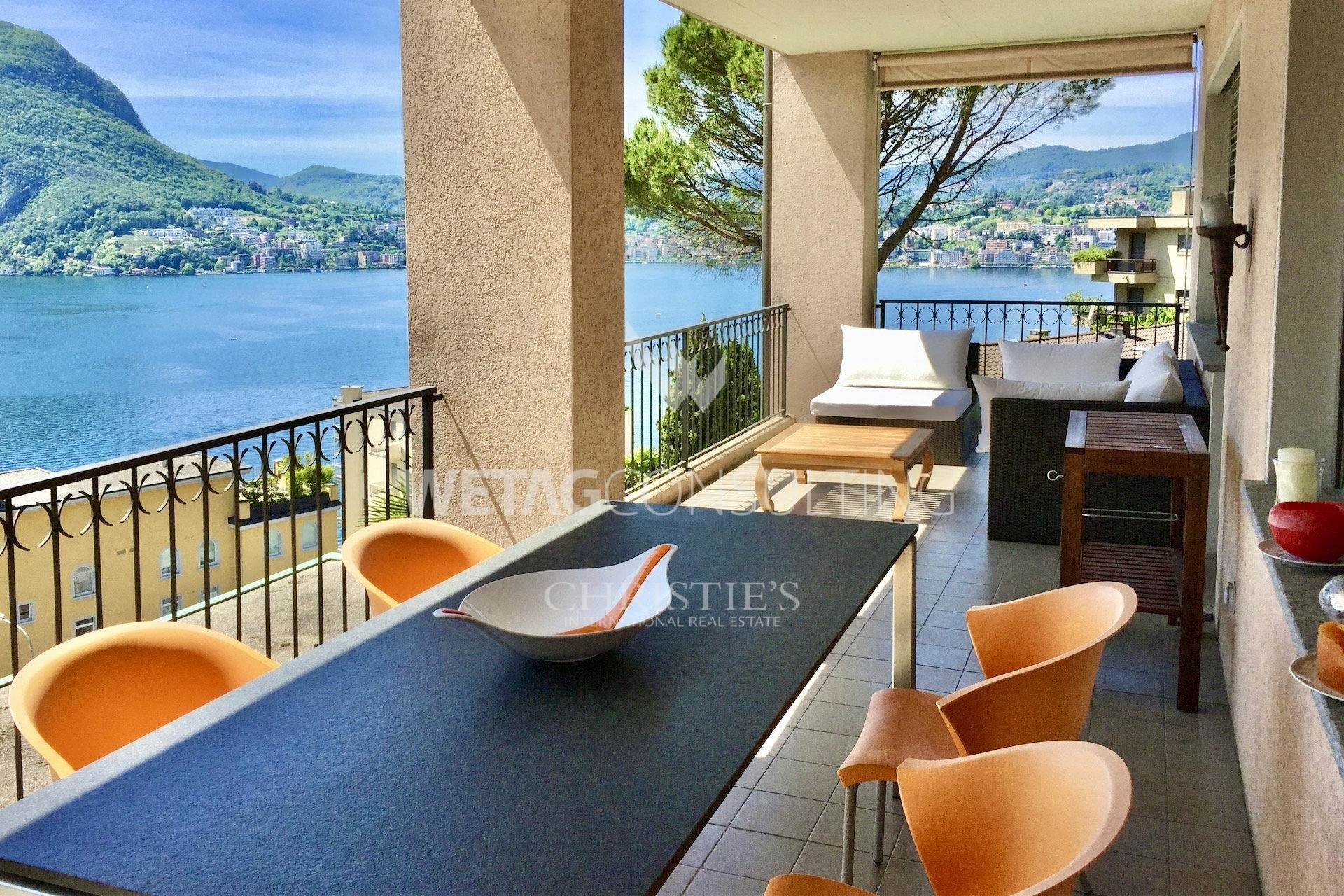 集合住宅 のために 売買 アット Apartment with beautiful Lake Lugano views for sale in Castagnola Castagnola, ティチーノ,6976 スイス