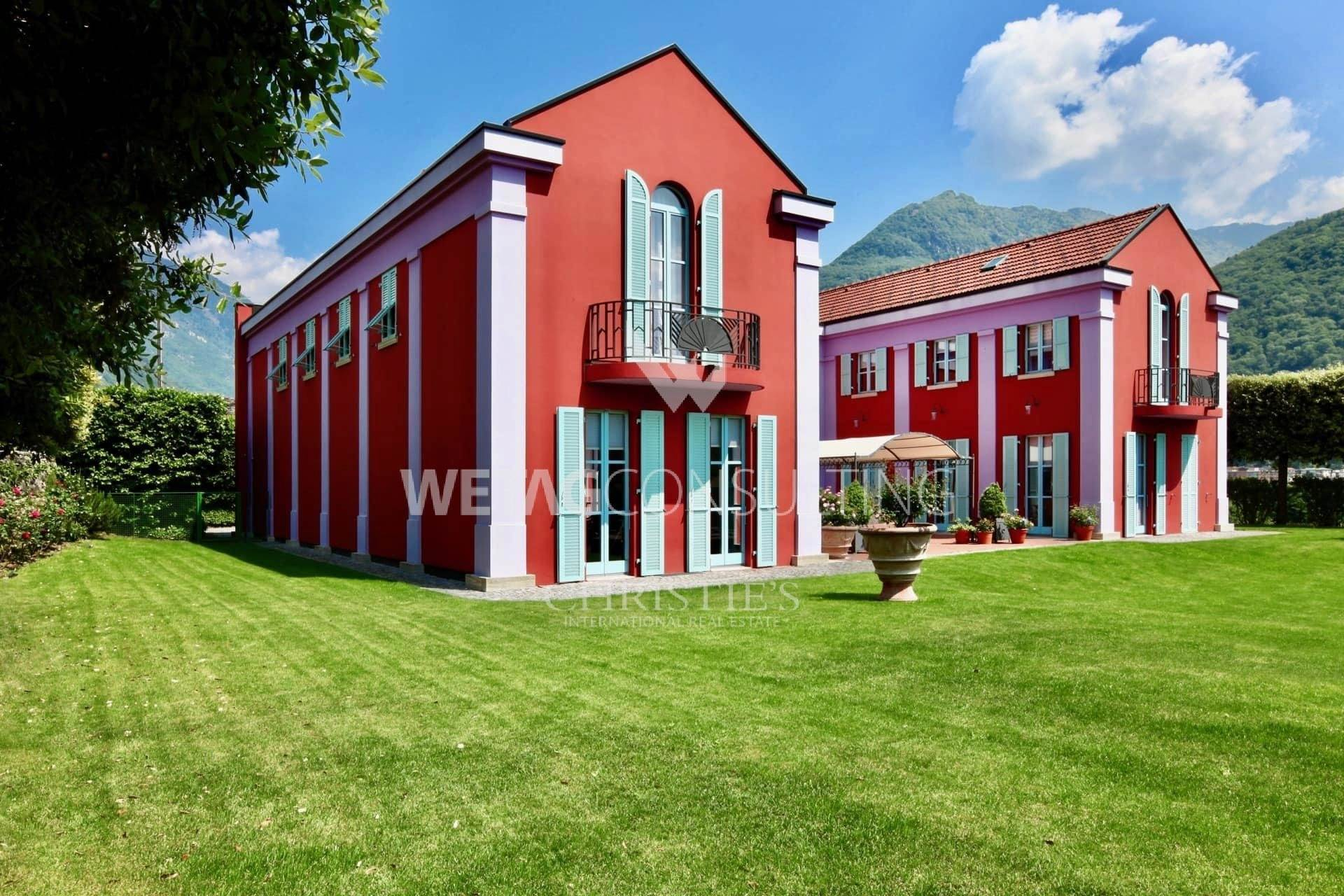 Villa/Townhouse for Sale at Stately villa for sale in Bellinzona overlooking nature Bellinzona, Ticino,6500 Switzerland