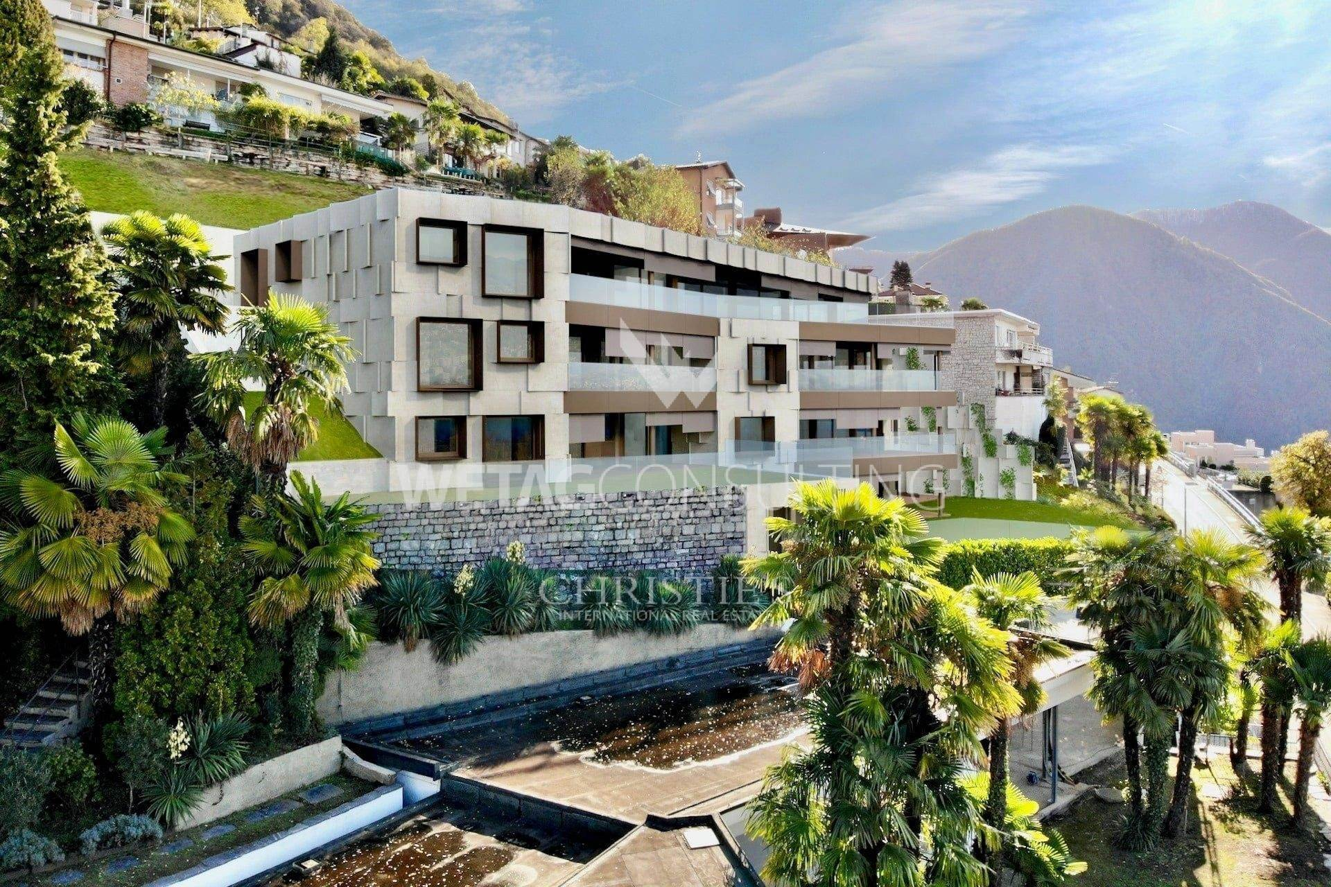 公寓 為 出售 在 New 3-bedrooms apartment for sale with garden & Lake Lugano view Aldesago, 提契诺,6974 瑞士