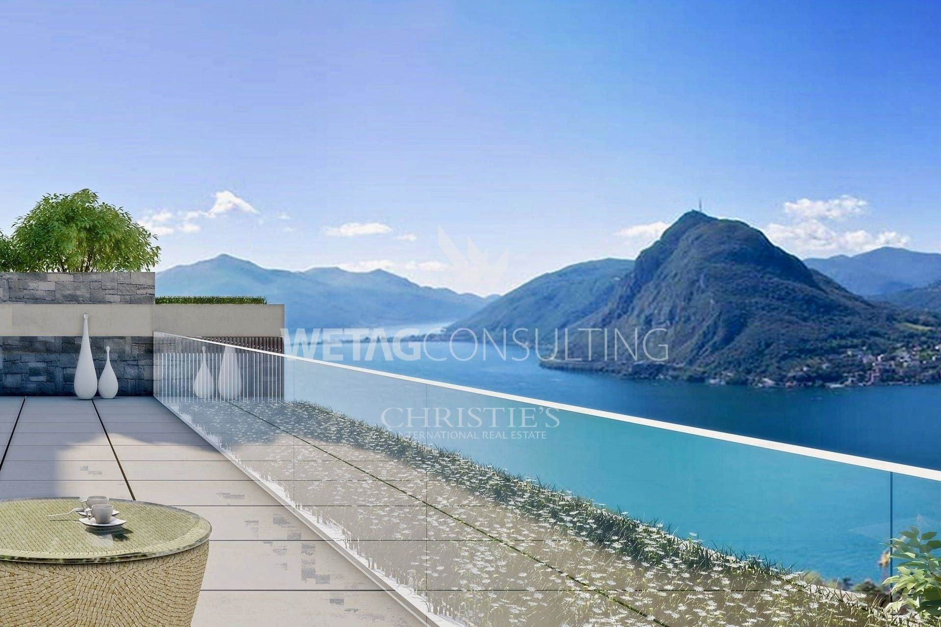 Апартаменты / Квартиры для того Продажа на Apartments for sale in Aldesago with spectacular Lake Lugano views Aldesago, Тичино,6974 Швейцария