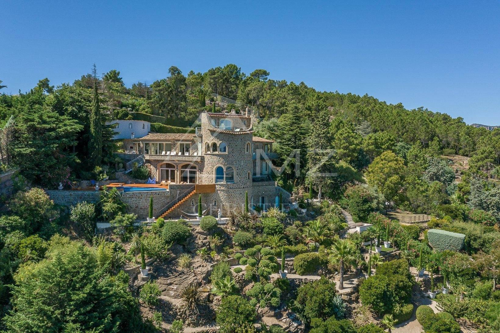 Villa/Townhouse for Sale at Close to Cannes - Panoramic sea views in private domain Theoule sur Mer, Alpes-Maritimes,06590 France