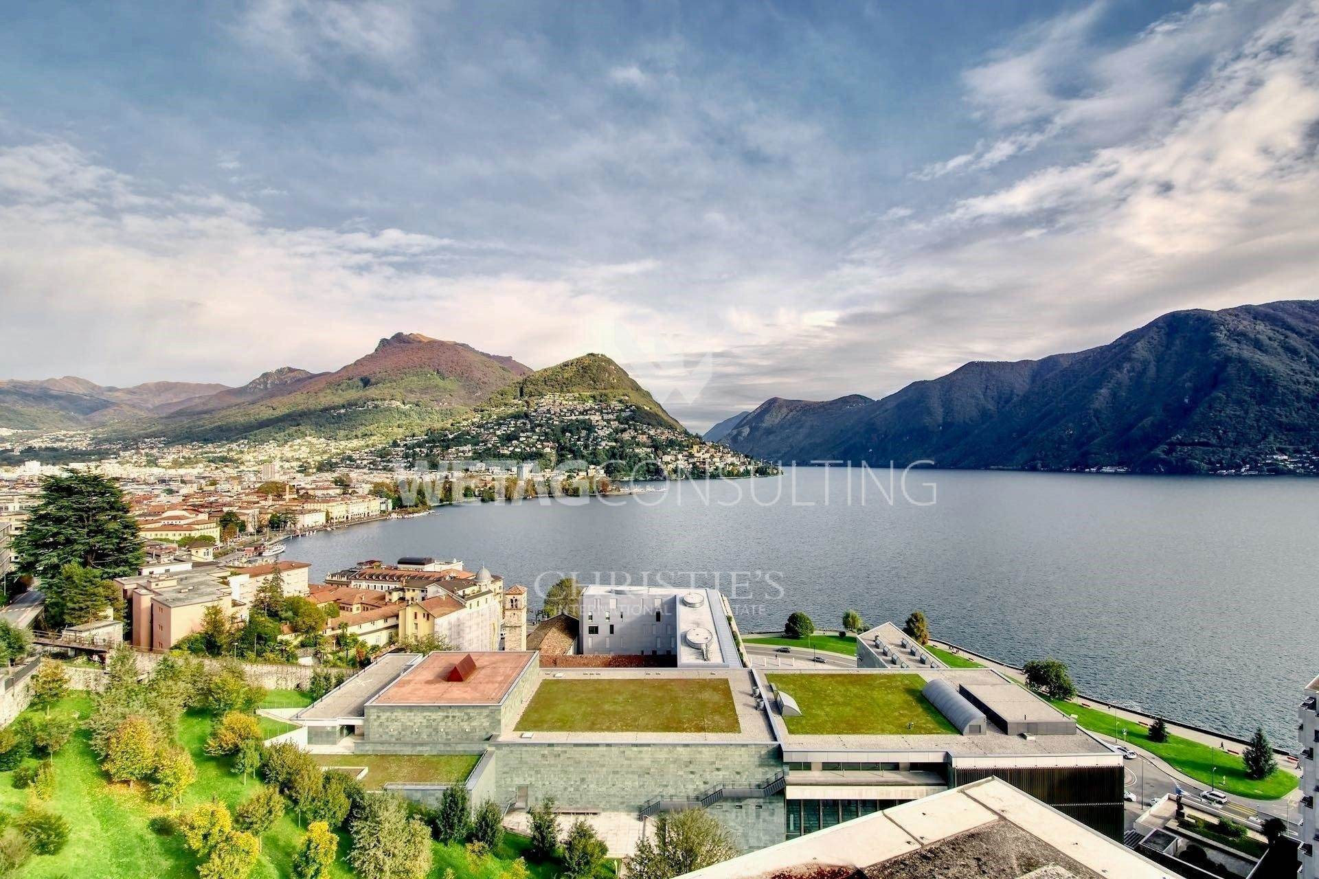 Daireler için Satış at Prestigious semi-penthouse in Lugano for sale with beautiful lake view Lugano, Ticino,6900 İsviçre