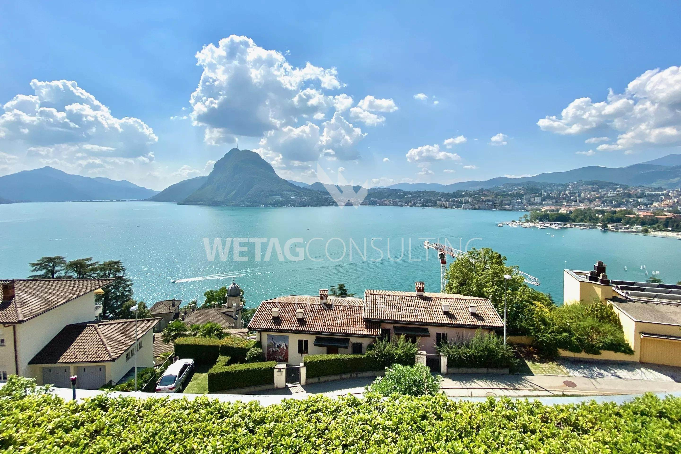 căn hộ vì Bán tại Castagnola: penthouse apartment for sale with stunning views of Lake Lugano Castagnola, Ticino,6976 Thụy Sĩ
