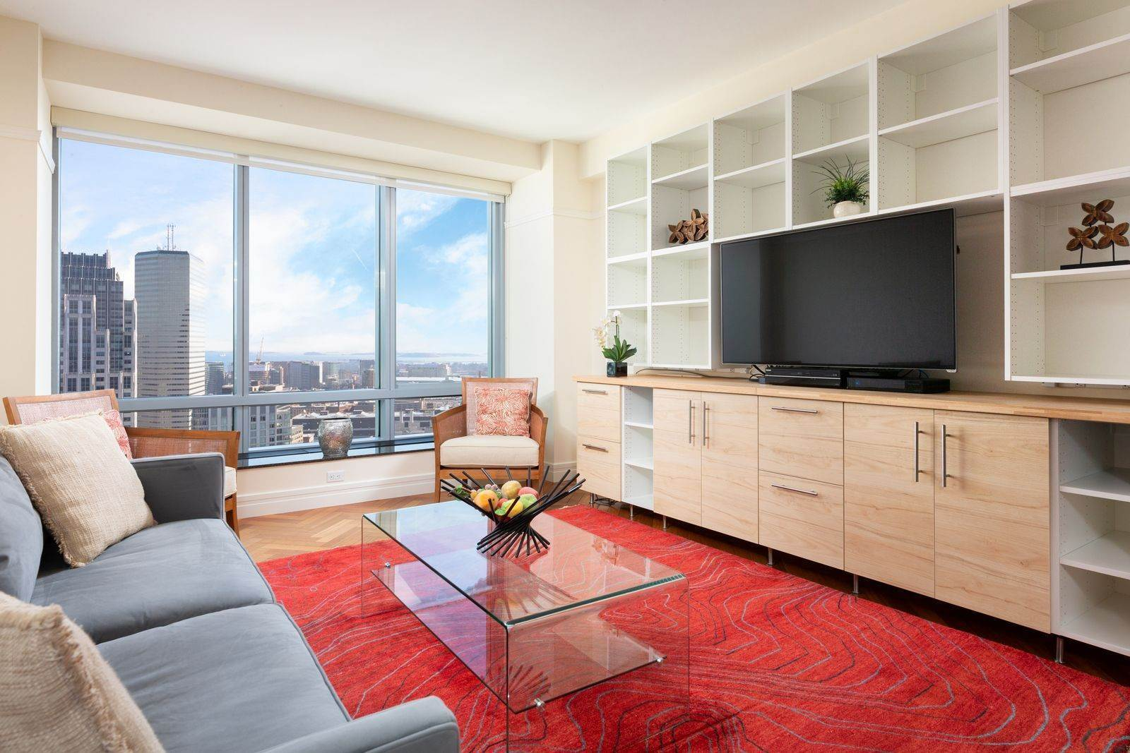 Single Family Home для того Продажа на Ritz-Carlton Residences, Unit 37A 2 Avery St Boston, Массачусетс,02111 Соединенные Штаты