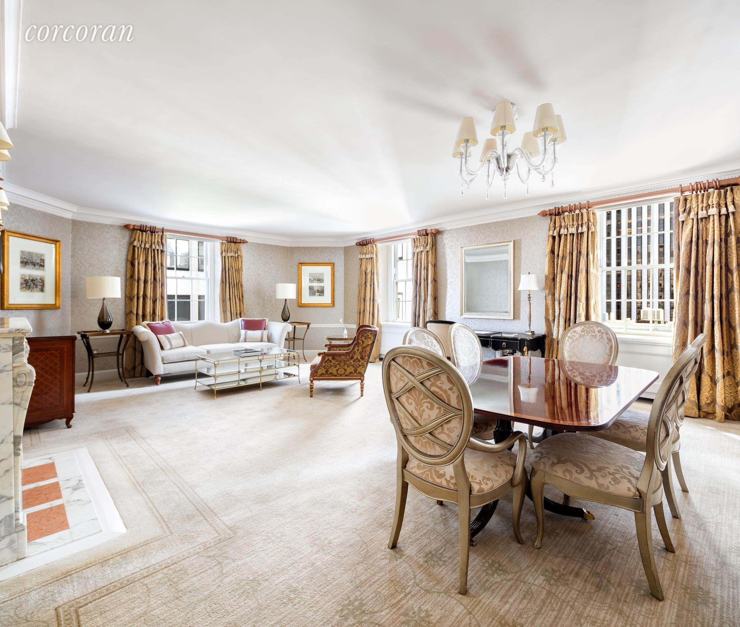 Co-op property for Rent at The Pierre 795 Fifth Avenue, 17 New York, New York,10065 United States