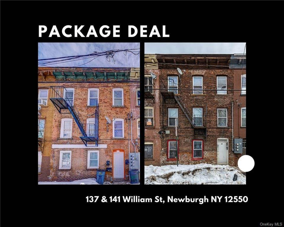 Single Family Home pour l Vente à 137 & 141 William Street Newburgh, New York, 12550 États-Unis