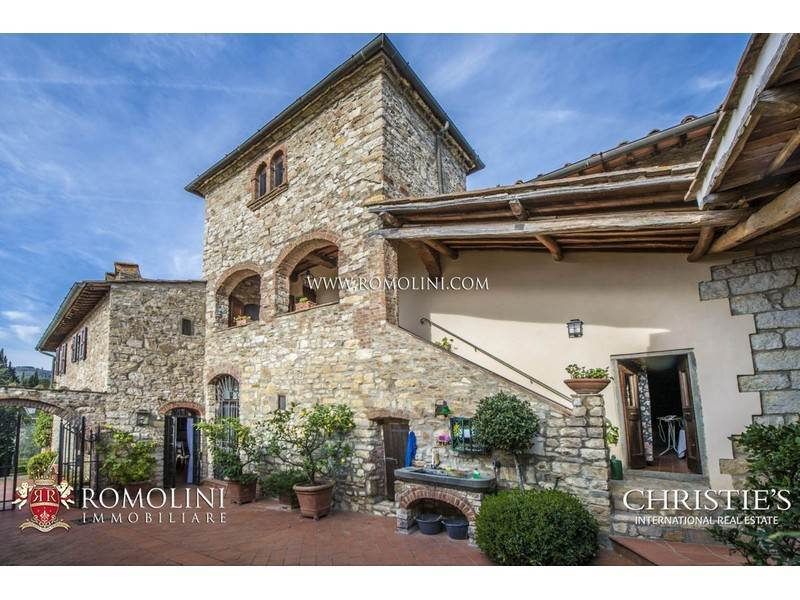 Tuscany Greve In Chianti Stone House With Olive Grove